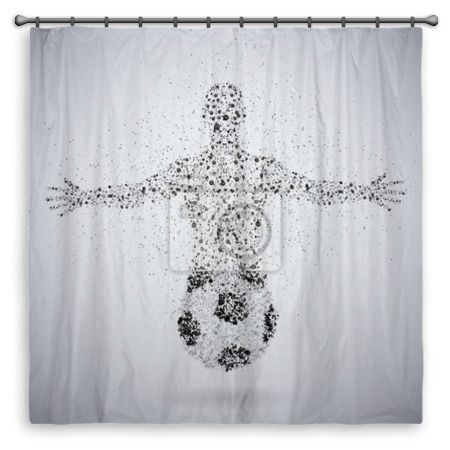 soccer fan shower curtain at