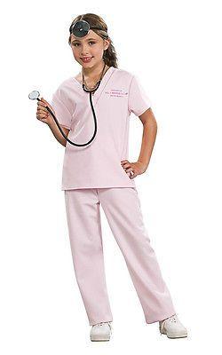BOYS GIRLS Surgeon Costume Doctor Dress Up Kids Scrub Suit Book Week