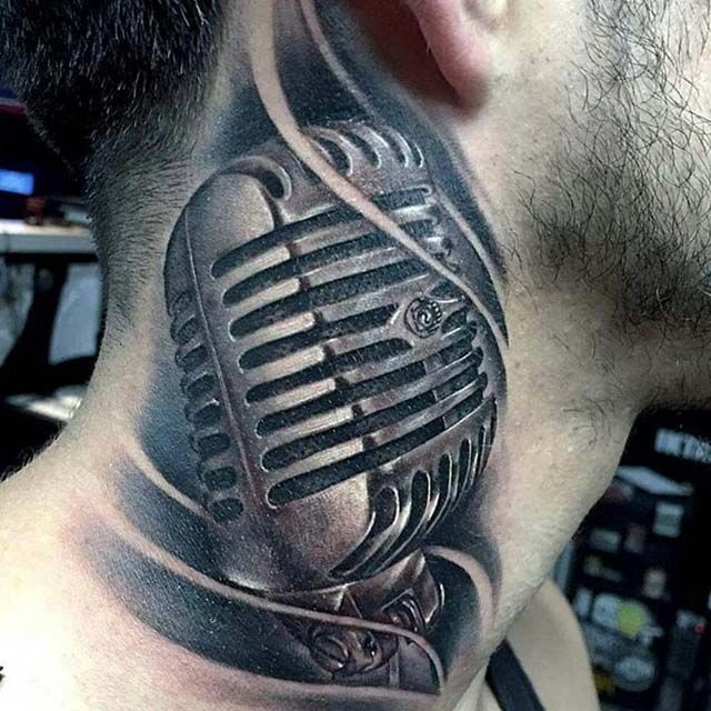 15 Unique Microphone Tattoo Designs Drawings Microphone Tattoo