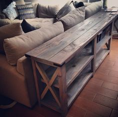 Diy Sofa Table This Is An Ana White Design It Could Work Out Well If It Was Modified As A Long Narrow Counter In The B Diy Sofa Table Diy Sofa