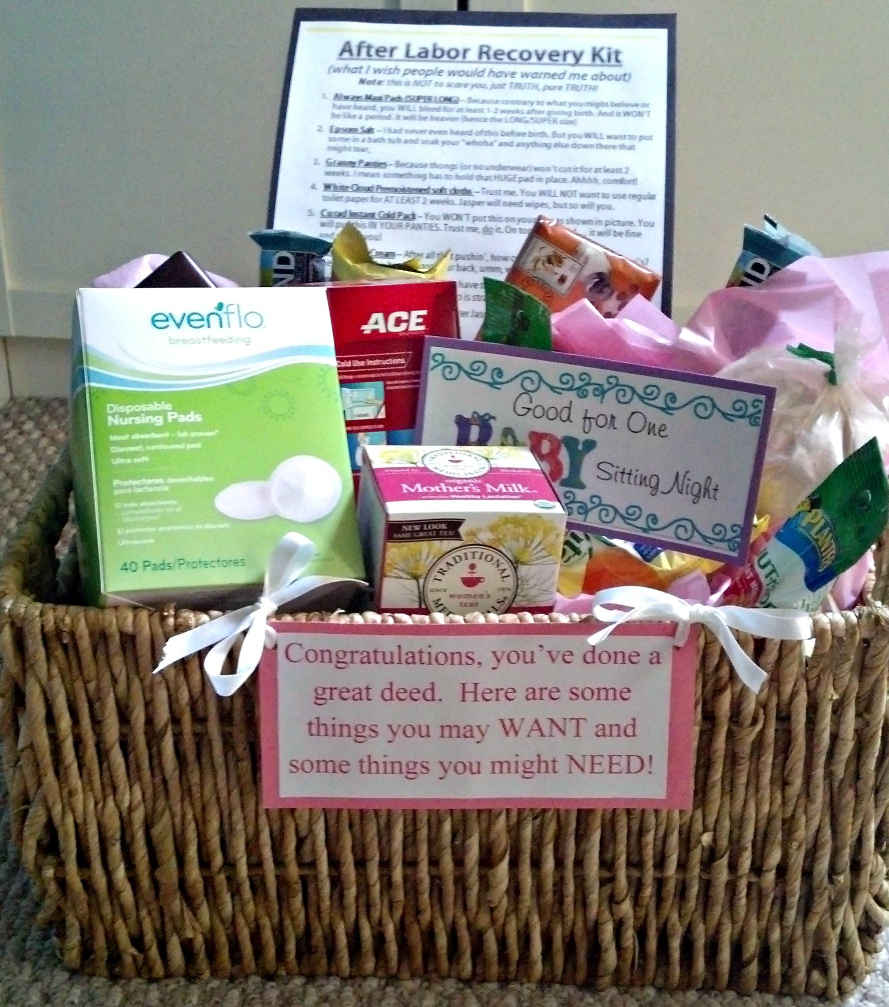 basket for new mom. I may have to do something like this for our ...