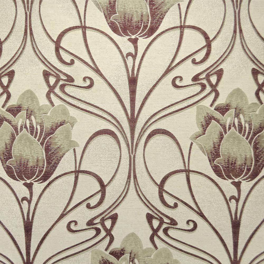 Art Deco Art Nouveau Curtain and Upholstery Fabric Art