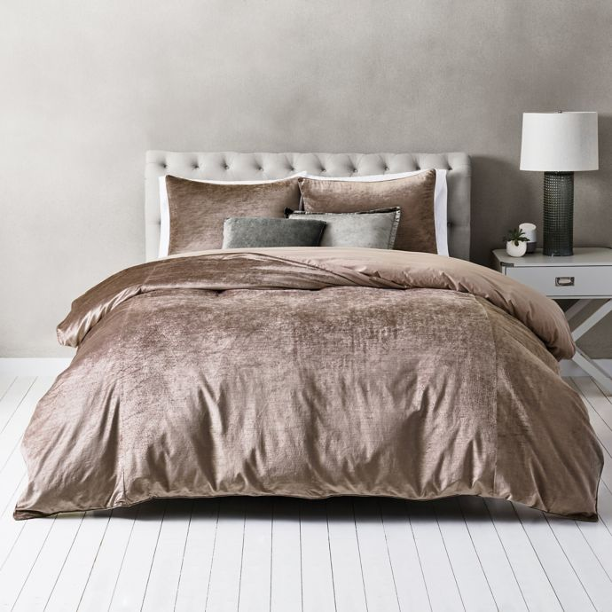 Wamsutta Velvet Duvet Cover Set Bed Bath Beyond Velvet