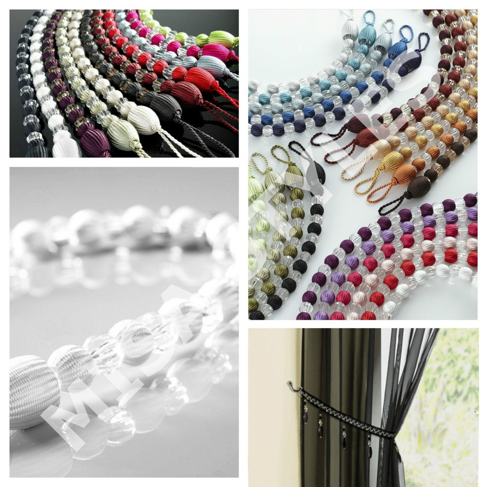 Modern crystal #effect earl #beaded rope curtain #decorative tie back hold back,  View more on the LINK: http://www.zeppy.io/product/gb/2/321796627518/