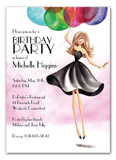 Adult Birthday Party Invitation My Birthday Birthday Party