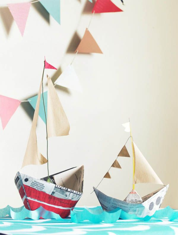 Making Boats 6 Diy Sailing Boat Crafts Nautical Party Kids Party Paper Boat