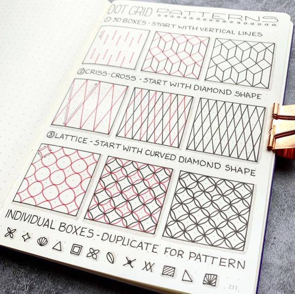 How To Create Dot Grid Patterns Dot Grid Journal Bullet Journal Lettering Ideas Grid Journals