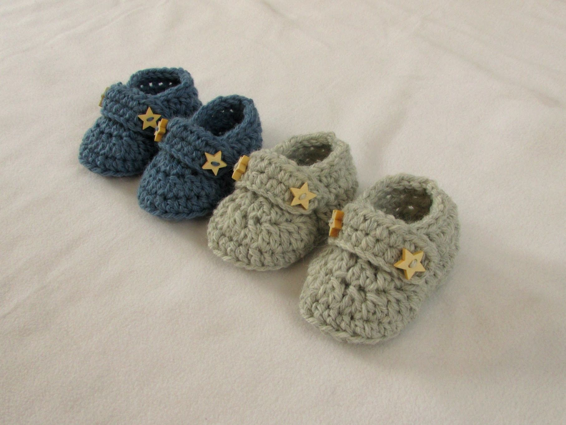 VERY EASY crochet baby boy booties shoes loafers slippers