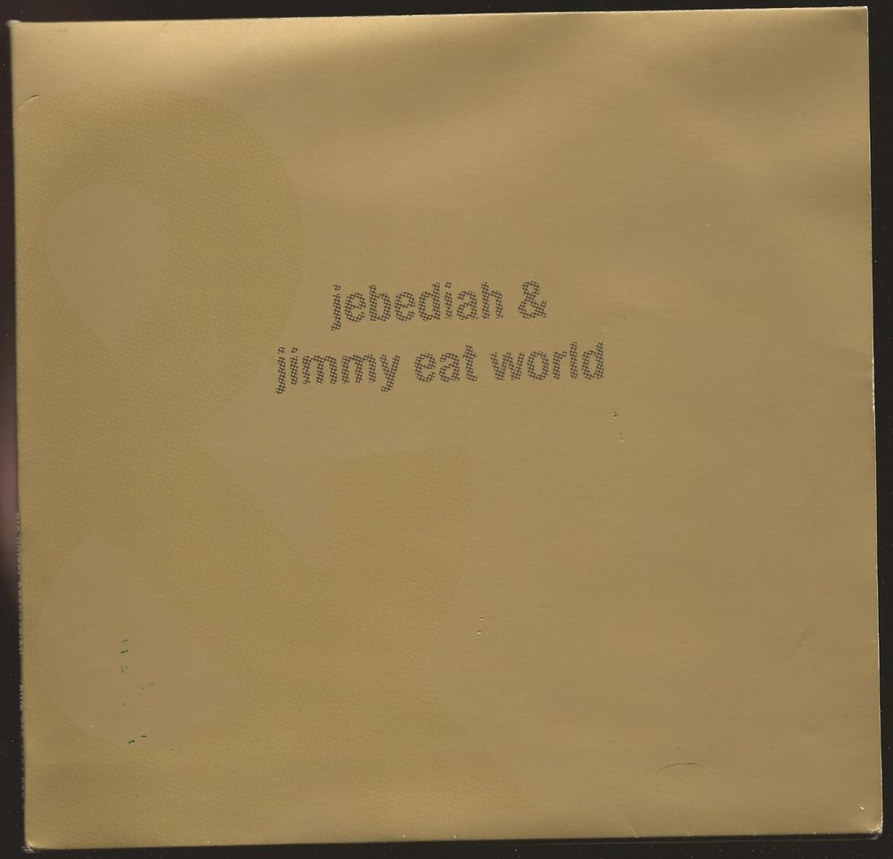 "Jimmy Eat World / Jebediah Split 3x7"" on Clear Vinyl 2000 Pop Punk BWR Emo VG++ Power Pop Big Wheel Recreation Records"