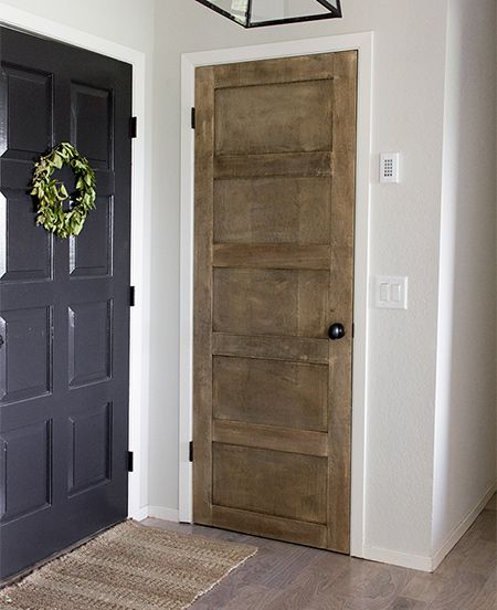 Plywood Or Mdf Strips Applied To Interior Doors Add A New Level Of Detail To Plain Hollow Core