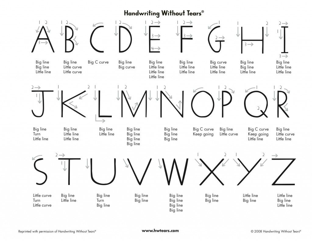 Handwriting Without Tears Printable