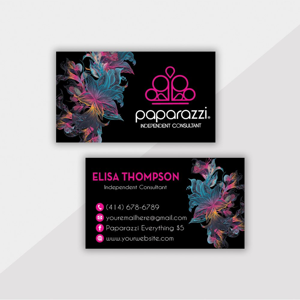 personalized paparazzi business card jewelry business