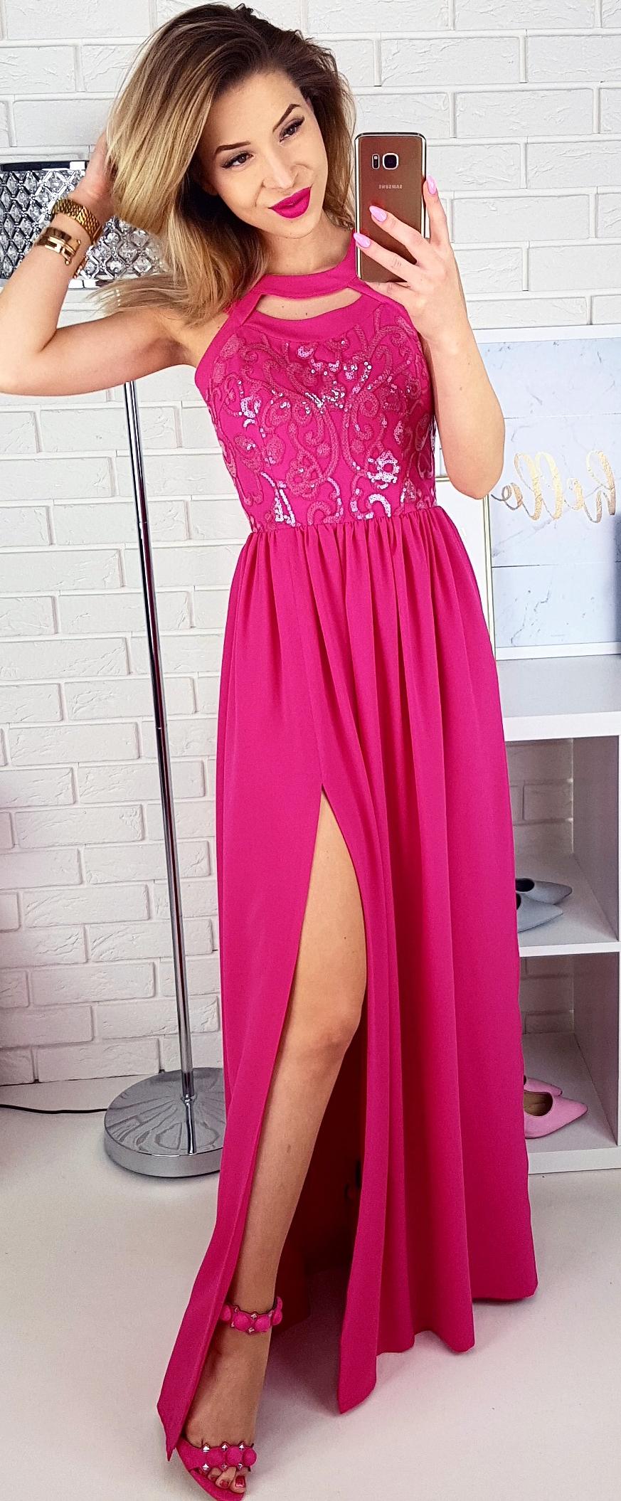Dluga Rozowa Suknia Dla Druhny Lub Na Wesele Dluga Sukienka Na Letnie Przyjecia 3 Pretty Dresses Dresses Dress Skirt