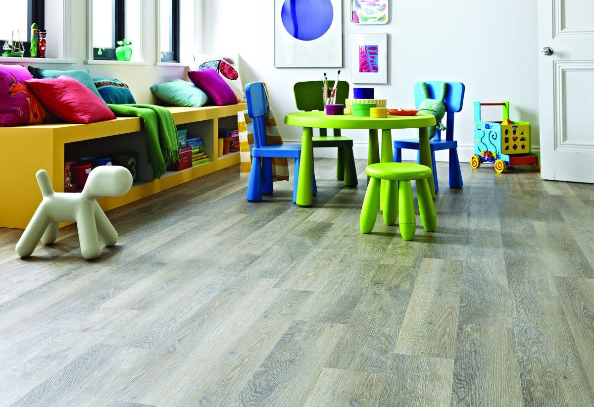 Karndean KP99 Lime Washed Oak Knight Tile Vinyl Flooring