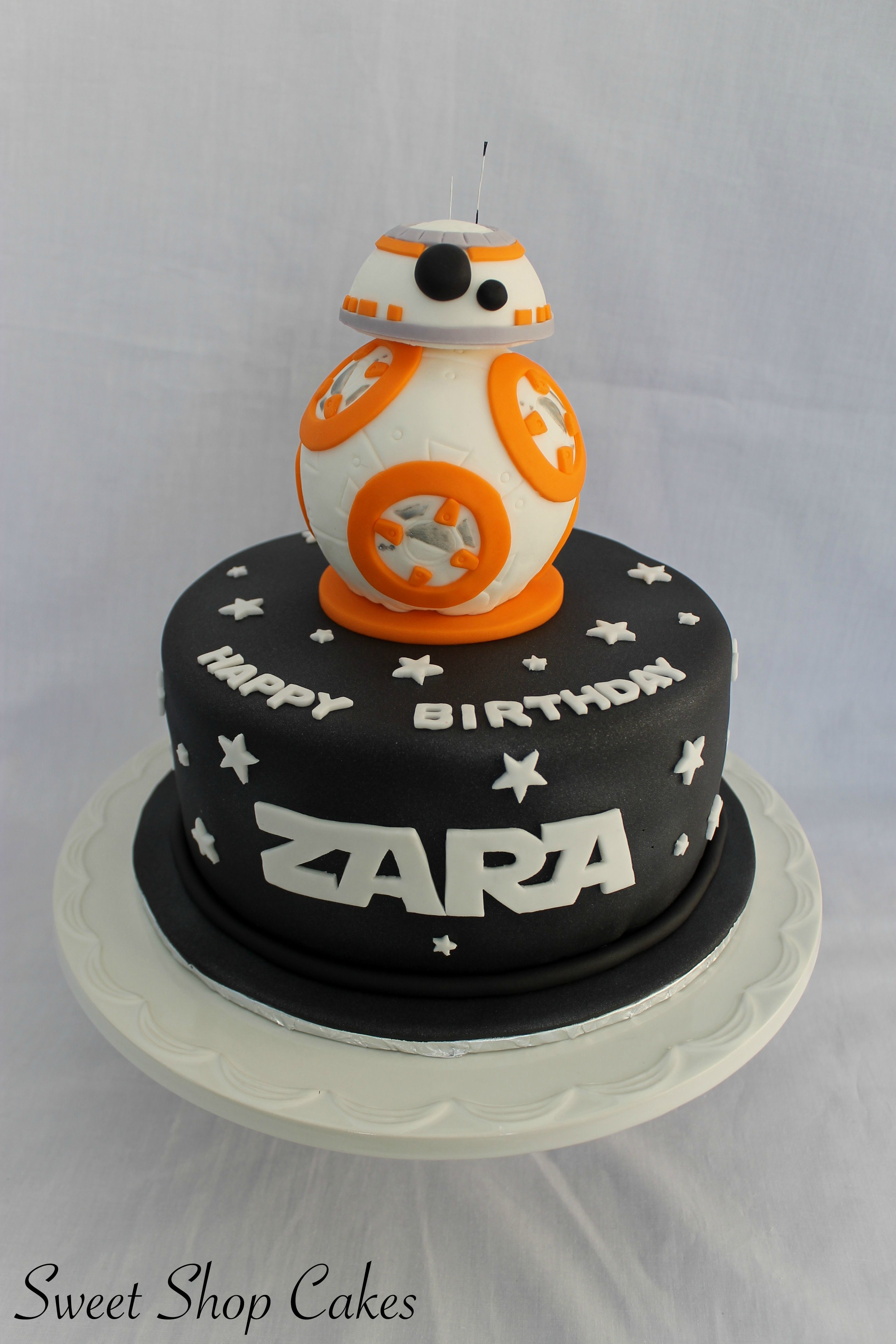 Star Wars Bb 8 Birthday Cake With Images Star Wars Birthday