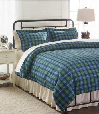 L L Bean L L Bean Heritage Chamois Flannel Comforter Cover Collection Plaid Comforter Cover Plaid Comforter Duvet Bedding Sets