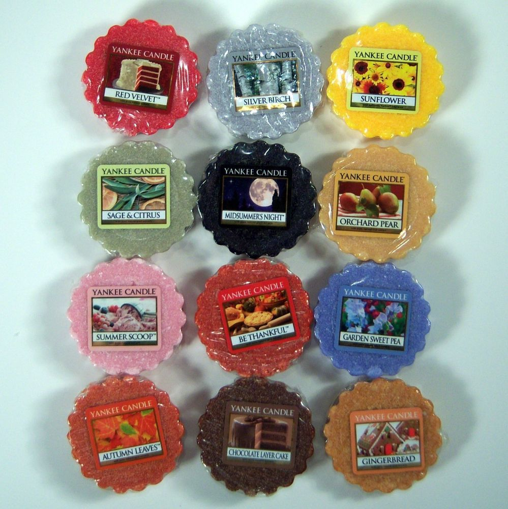 Yankee candle tarts wax melts mix of fresh floral fruit and food
