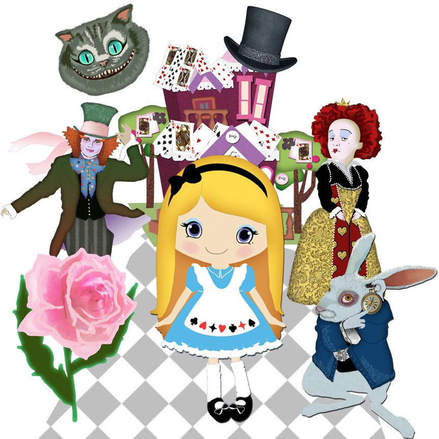 Clip art Alice in Wonderland 7png for personal use.