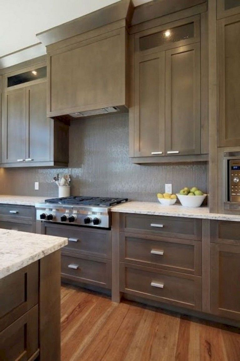 Brown Kitchen Cabinets Contemporary Kitchen Kitchen Cabinet Remodel Shaker In 2020 Contemporary Kitchen Contemporary Kitchen Interior Kitchen Cabinet Remodel