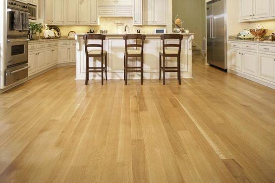 Wood Flooring Straight Pattern Installation In Kitchen
