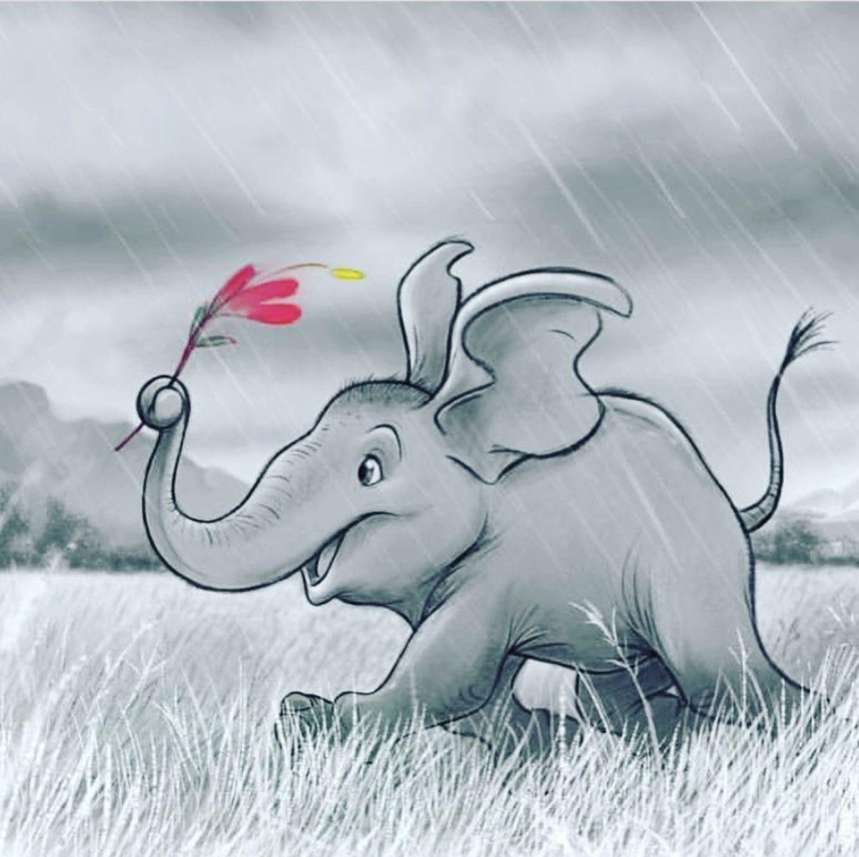 смешные рисунки слона древних