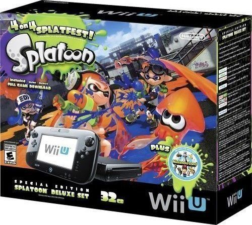 Nintendo Wii U 32GB Console Splatoon Special Edition Bundle - Black Nintendo $339.99 10/28 ad online Amazon.com