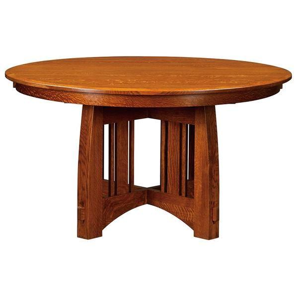Brookville Expandable Single Pedestal Table | Pedestal dining table, Round pedestal dining table ...