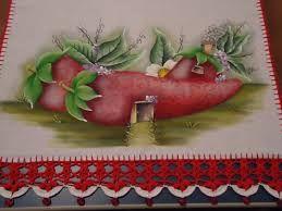 Resultado de imagen de pintura em tecido casinhas de frutas