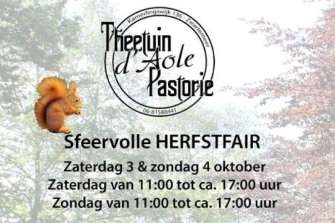 Herfstfair bij Theetuin d'Aole Pastorie in Zwartemeer