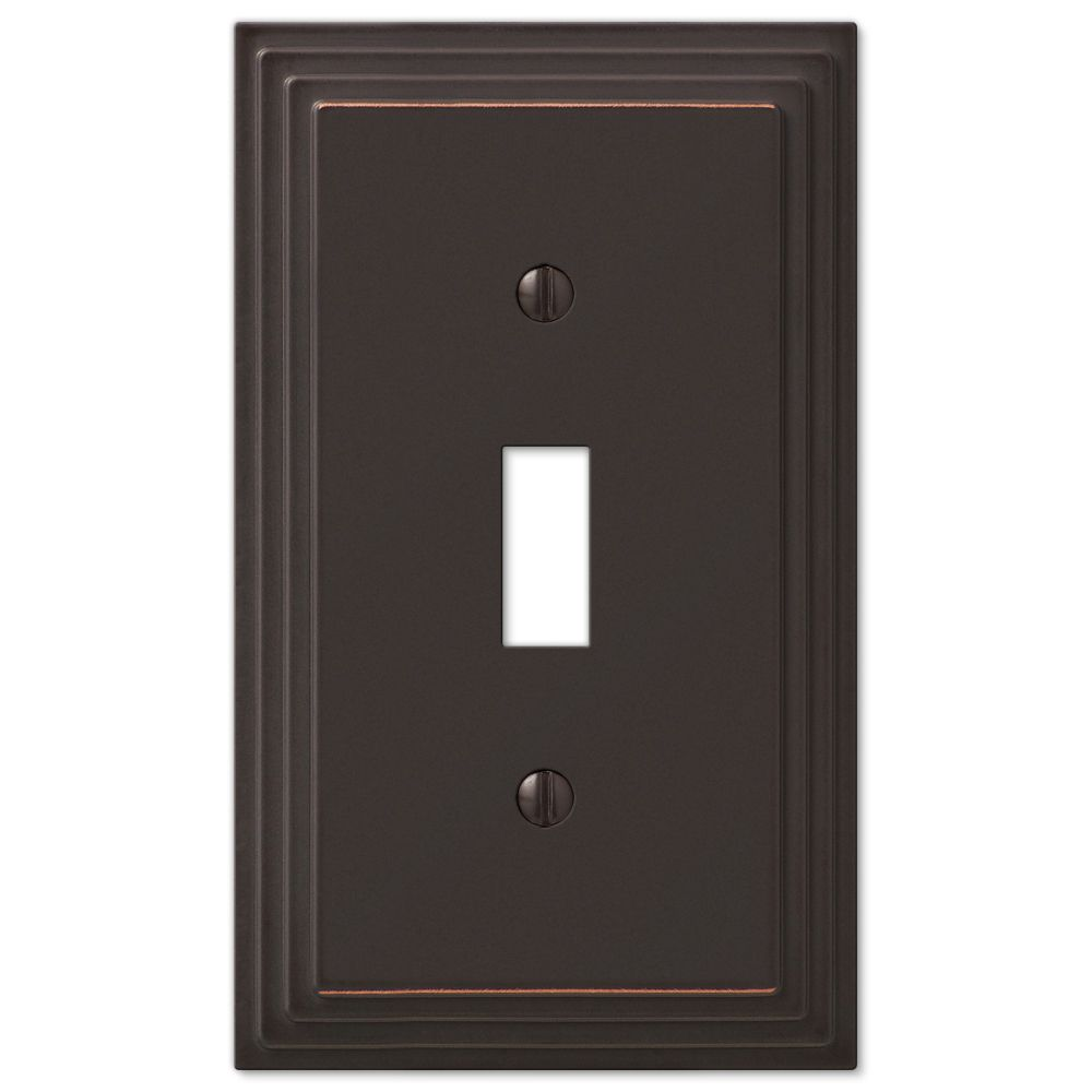 Amerelle Steps 1 Single Toggle Light Switch Decorative Wall Plate