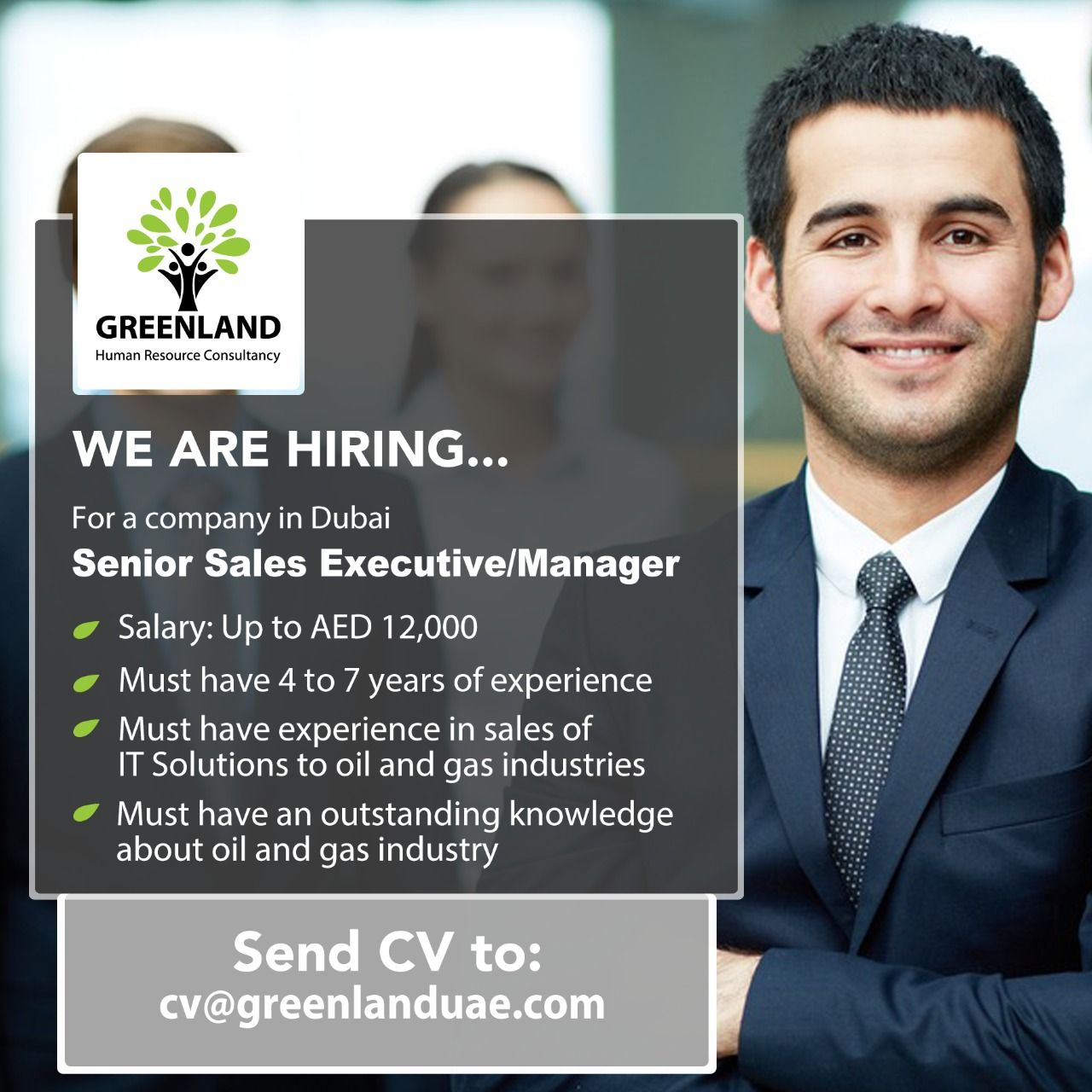 We are currently looking for a Senior Sales Executive