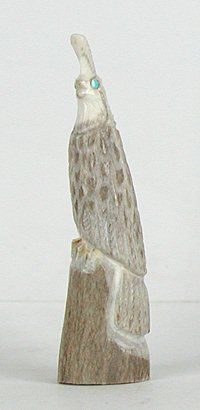Authentic Native American Quail Fetish of antler by Zuni Elton Kaamasee