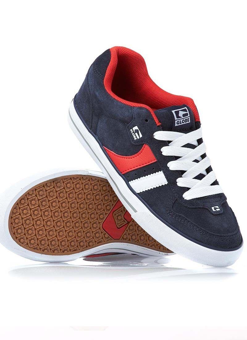 Globe Skate Zapatos  Skate Globe Encore 2 Skate  Zapatos Navy Rojo Available 5ee2b2