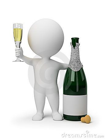 3d Small People Champagne Happy Birthday Wishes Images Happy Birthday Fun Happy Birthday Wishes