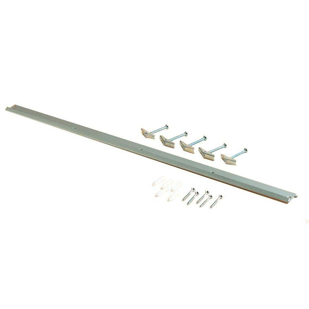 Triton Products Storability 33 in. L x 1-3/4 in. H Gray Epoxy Coated Steel Top Track Wall Frame Plus Mounting Hardware