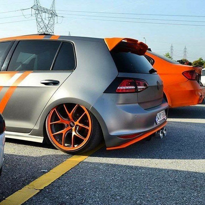 Vw Grey And Orange Slammed Tucked Wheels Imports