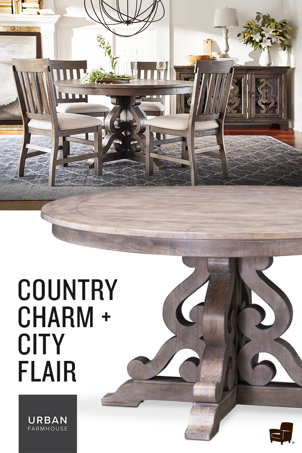 Charthouse Round Dining Table And 4 Side Chairs Round Dining