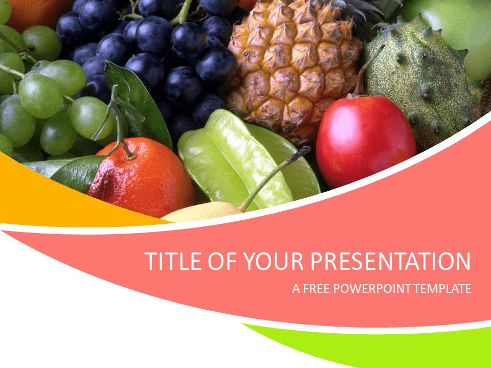 Fruits Powerpoint Template Presentationgo Com Free Fruit