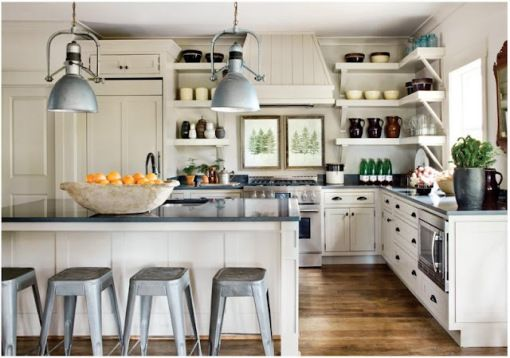 french industrial lighting. French Style Kitchen Industrial Lighting Tolix Stools .
