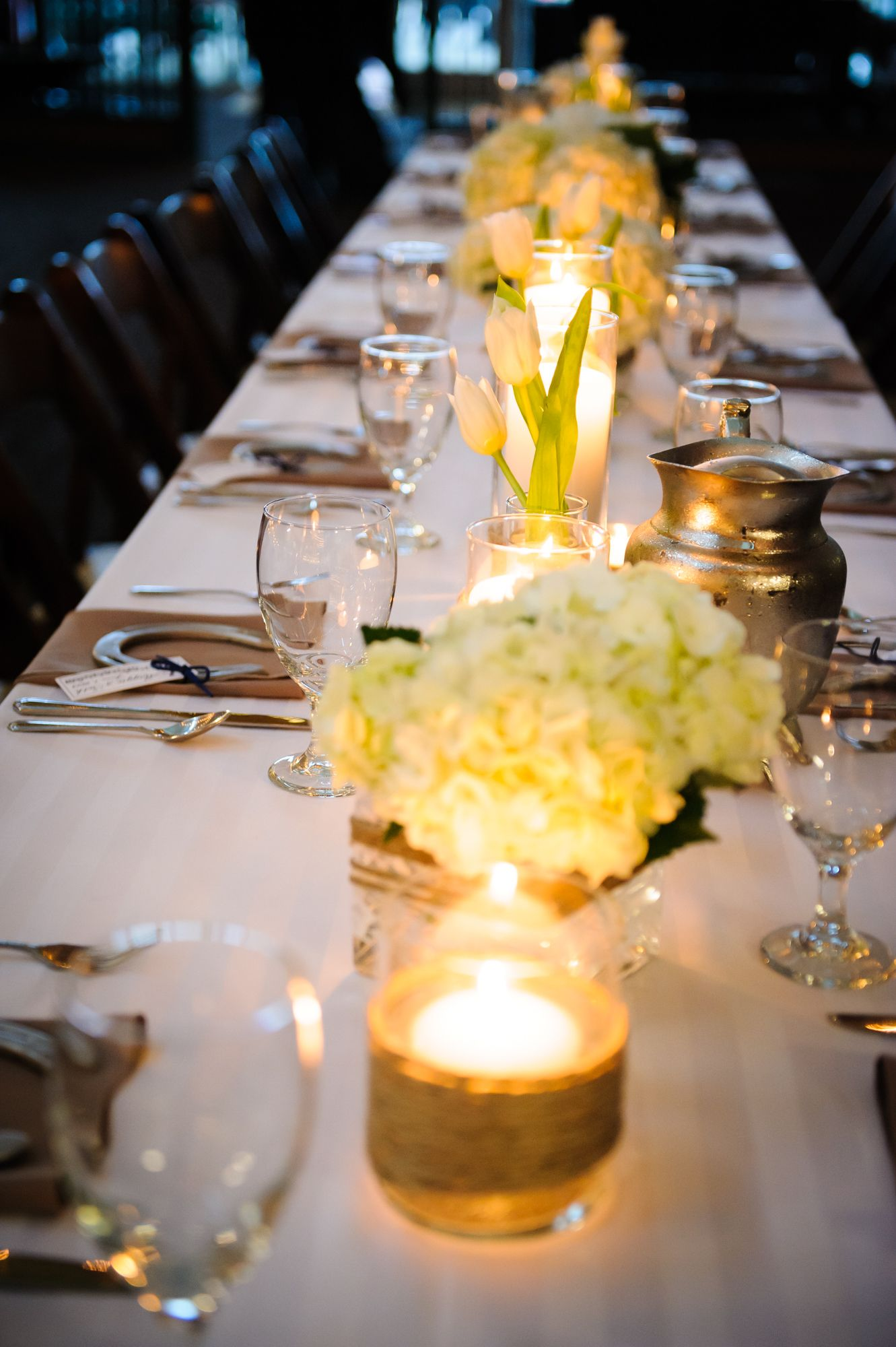 White flowers centerpieces