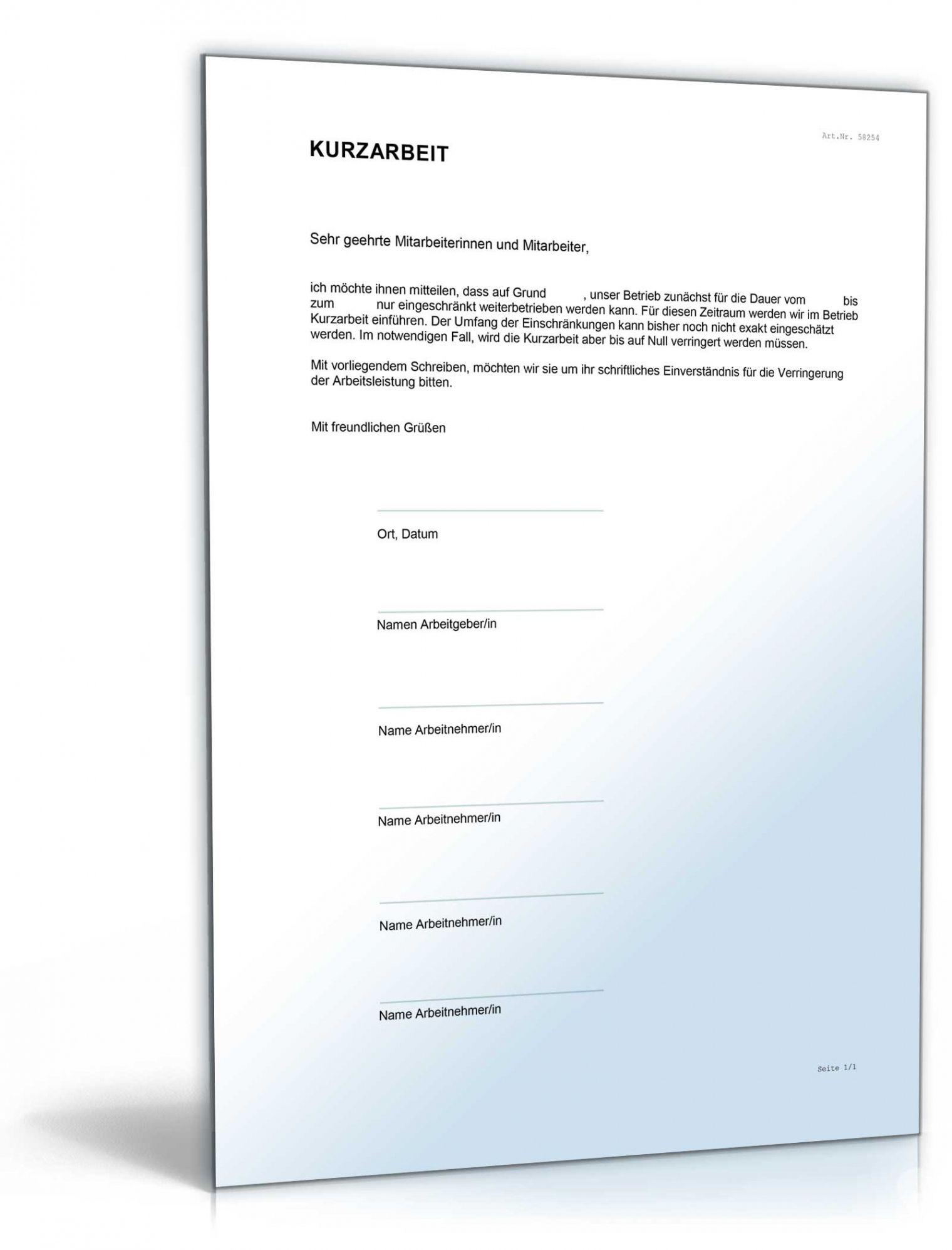 Durchsuche Unsere Druckbar Von Vereinbarung Arbeitnehmer Kurzarbeit Vorlage In 2020 Vereinbarung Vorlagen Arbeit