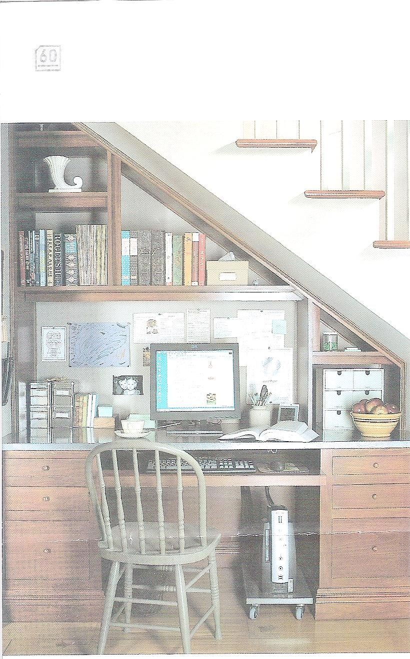 Basement Study Room: Under Stair Office