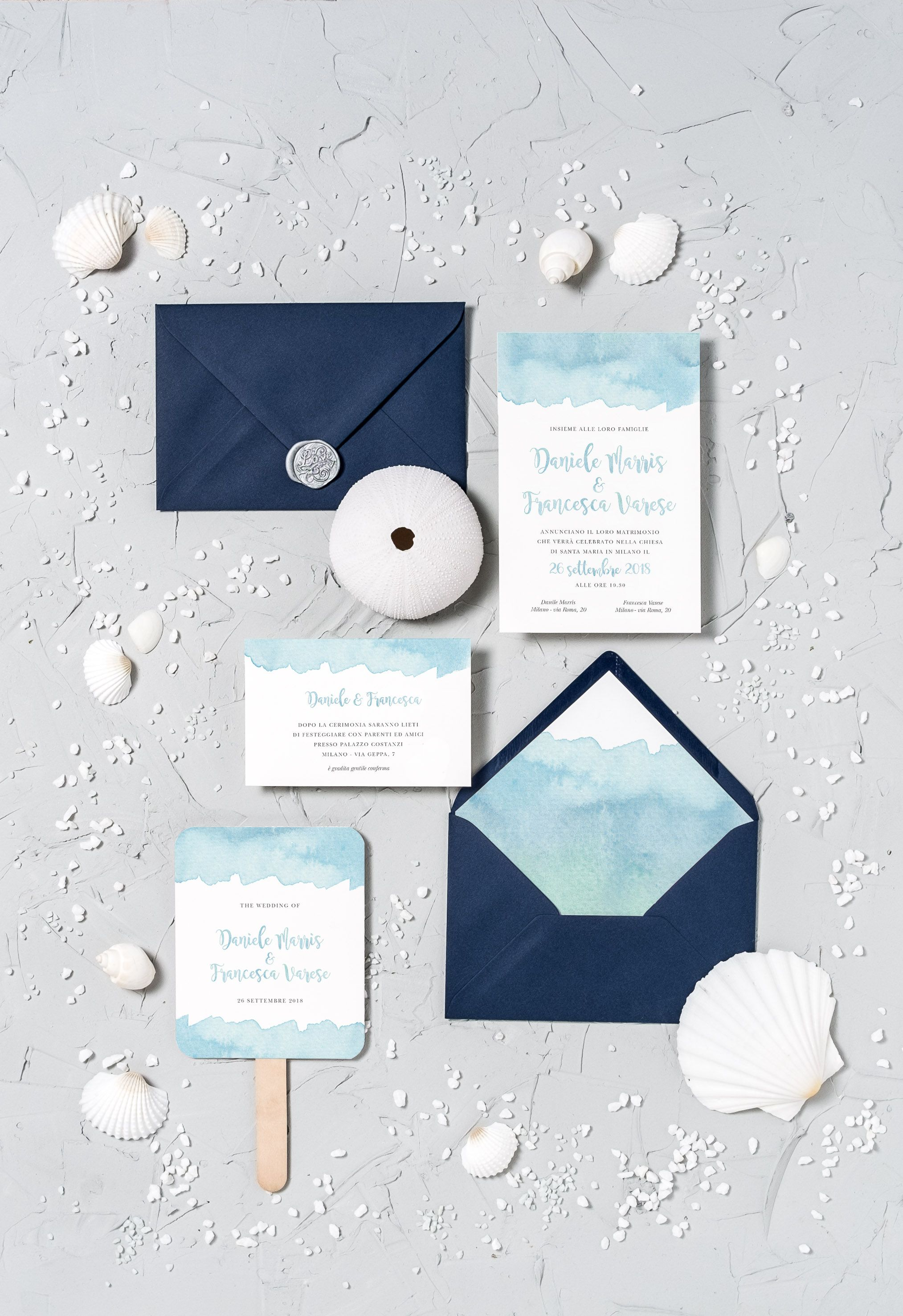 Matrimonio Tema Roma : Beach wedding stationery sea wedding matrimonio tema mare sea