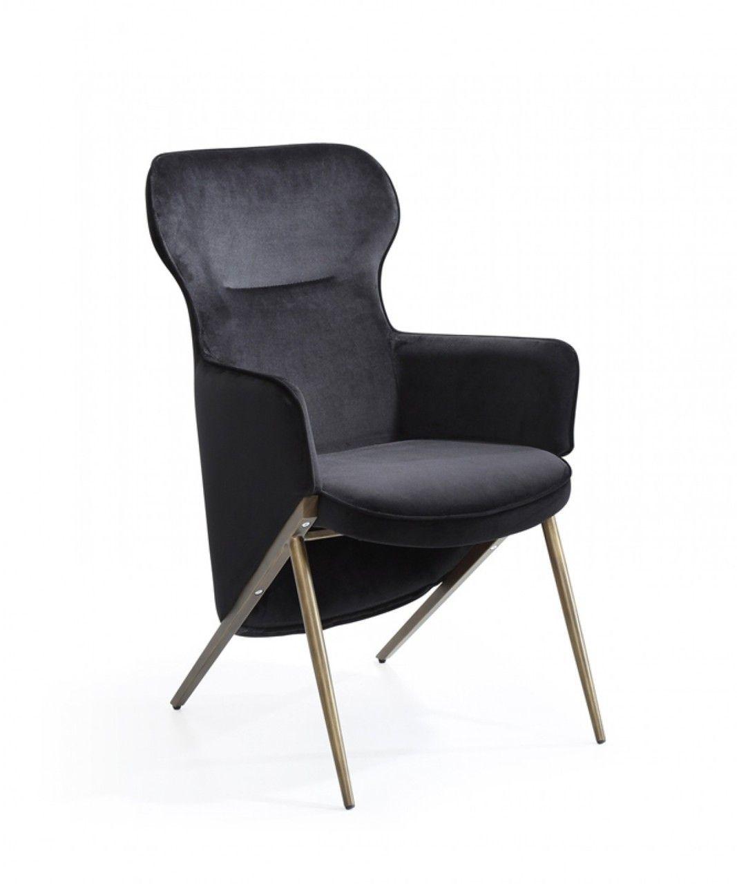 Best Modrest Coreen Modern Black Velvet Accent Chair Velvet 400 x 300