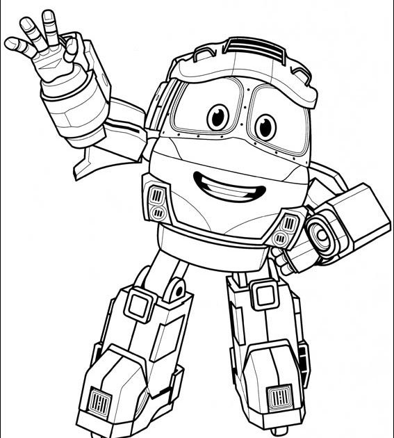 Robot Trains Coloring Picture Duke High Quality Free ...