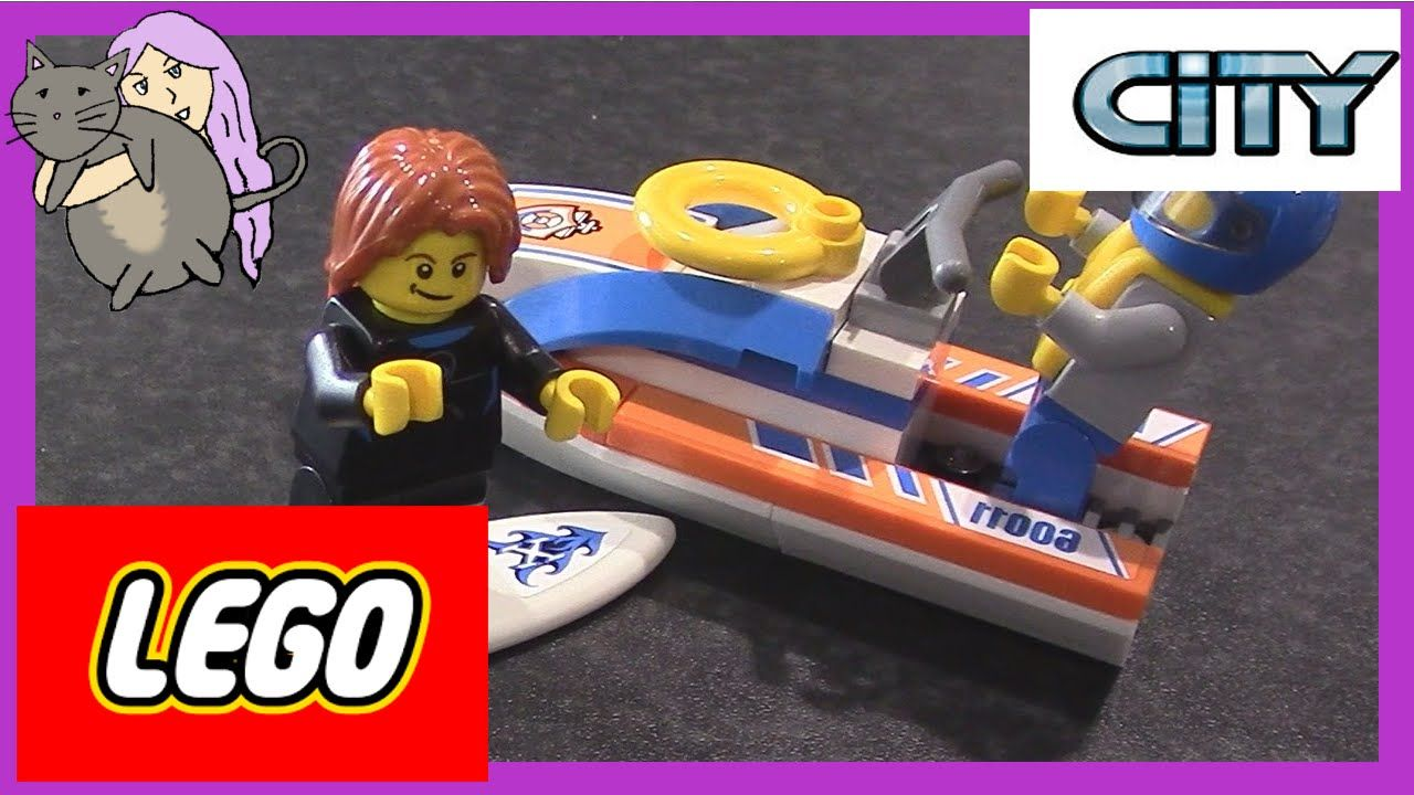 Pin lego 60032 city the lego summer wave in official images on - Lego City Stop Motion 60011 Minifigure Pack Beack Jet Ski Shark