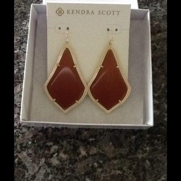 Kendra Scott Orange Goldstone Earrings Brand new with tags. Kendra Scott Goldstone Alexandra Earrings Kendra Scott Jewelry Earrings