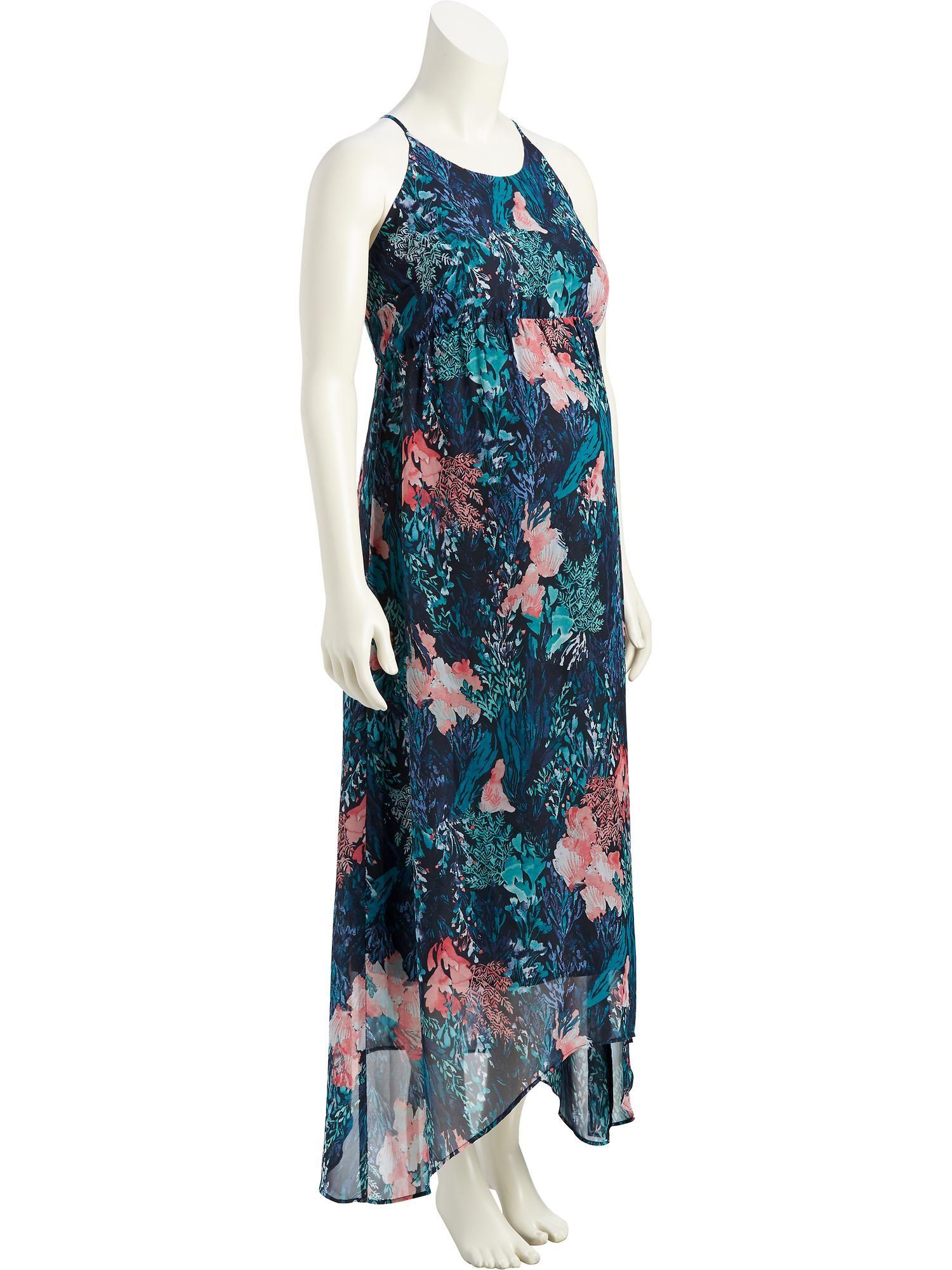 c77522c56b7 Maternity Chiffon Trapeze Maxi Dress