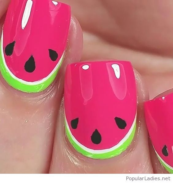 Amazing Watermelon Nails Design For Summer Watermelon Nail Designs Watermelon Nails Trendy Nails