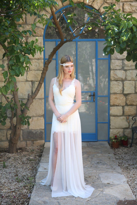 Adrienne boho wedding dress bohemian wedding dress beach